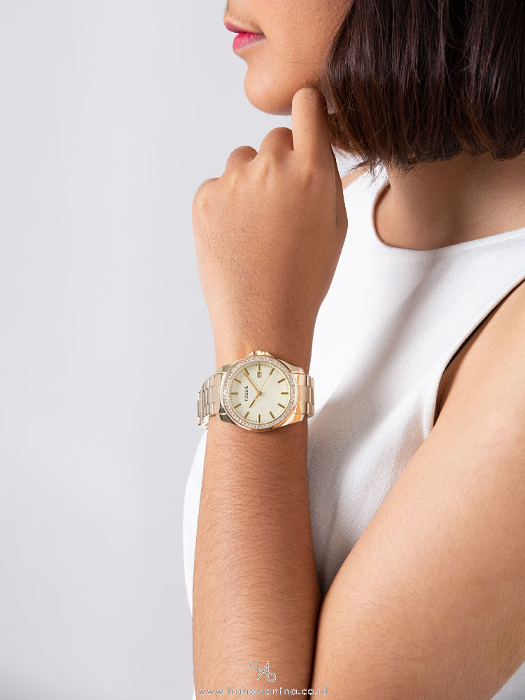 FOSSIL BQ3189 Crystal Stainless Gold