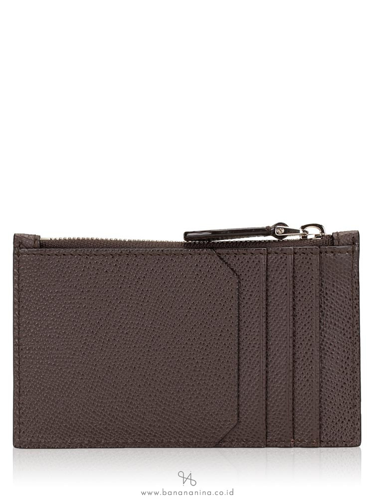 BALLY Tenley Zip Card Holder Brown