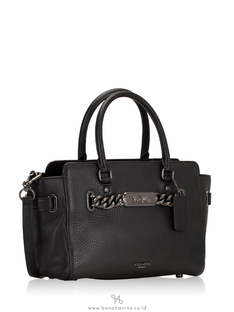COACH 31525 Bubble Leather Blake 25 Satchel Black