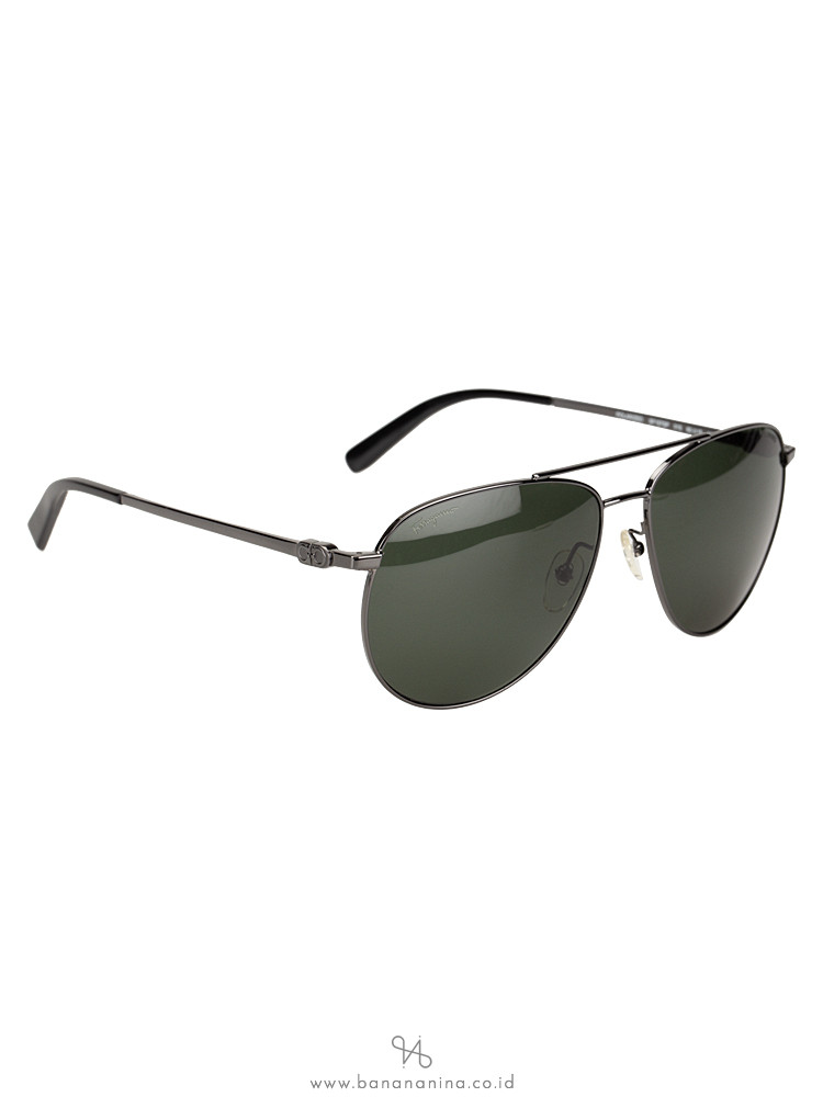 SALVATORE FERRAGAMO SF157SP Aviator Dark Gunmetal