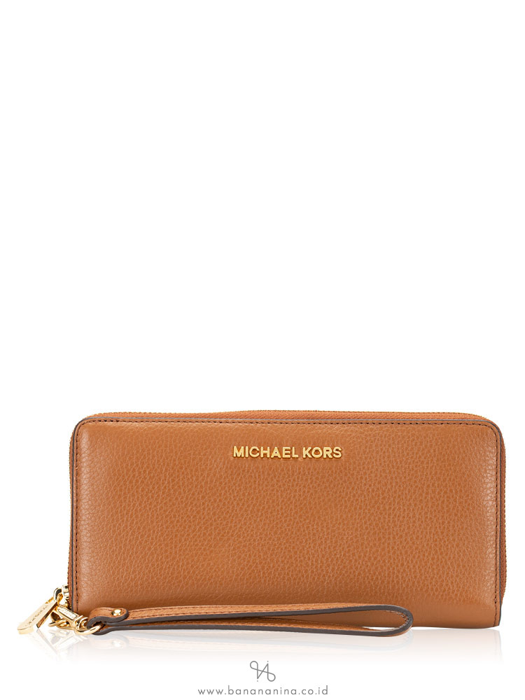 MICHAEL KORS Jet Set Leather Large Continental Wallet Luggage