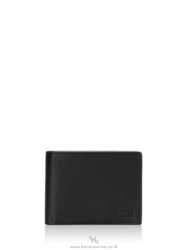 HUGO BOSS Men Arezzo Leather Bifold Wallet Black