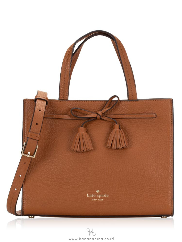 KATE SPADE Hayes Street Small Satchel Warm Cognac Red