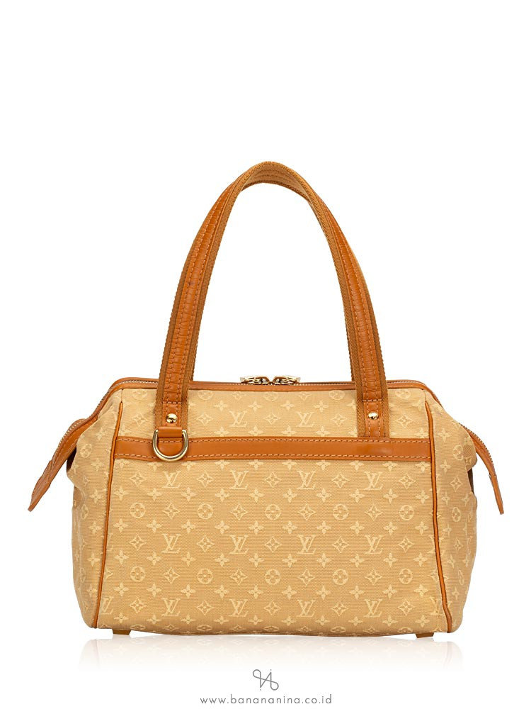 LOUIS VUITTON Mini Lin Josephine PM Beige