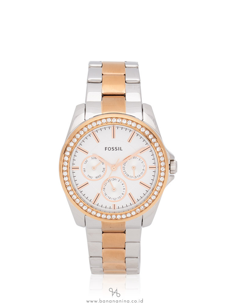 FOSSIL BQ3420 Janice Chronograph Stainless Silver Rosegold