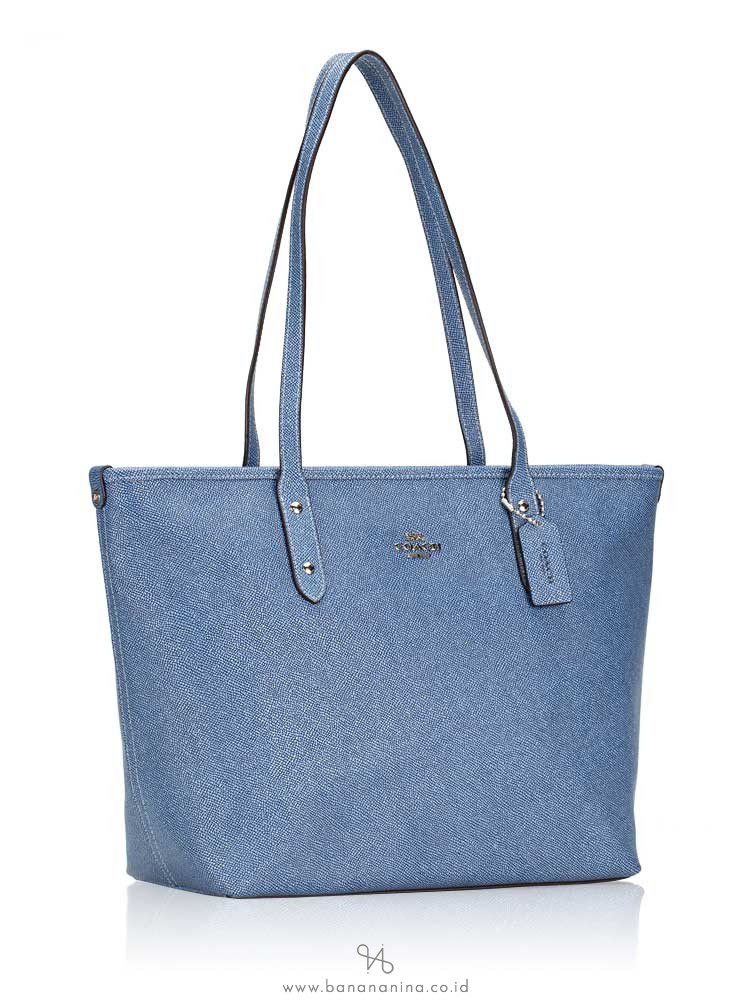 COACH 54670 Crossgrain City Zip Tote Denim