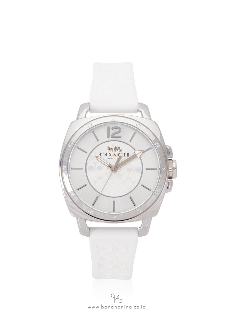 COACH 14503146 Boyfriend Rubber Strap Chalk