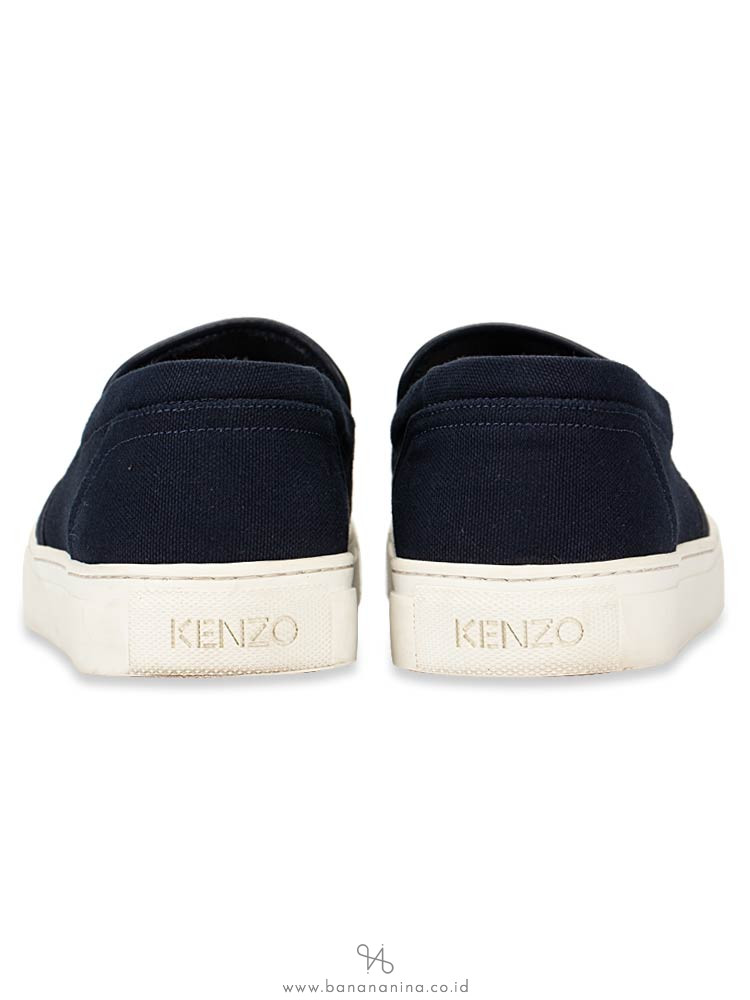 KENZO Skate Tiger Canvas Slip On Sneakers Navy Sz 41