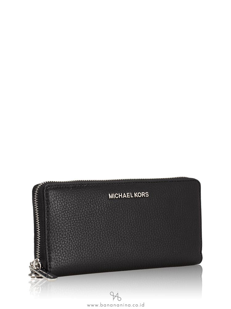 MICHAEL KORS Jet Set Leather Continental Wallet Black
