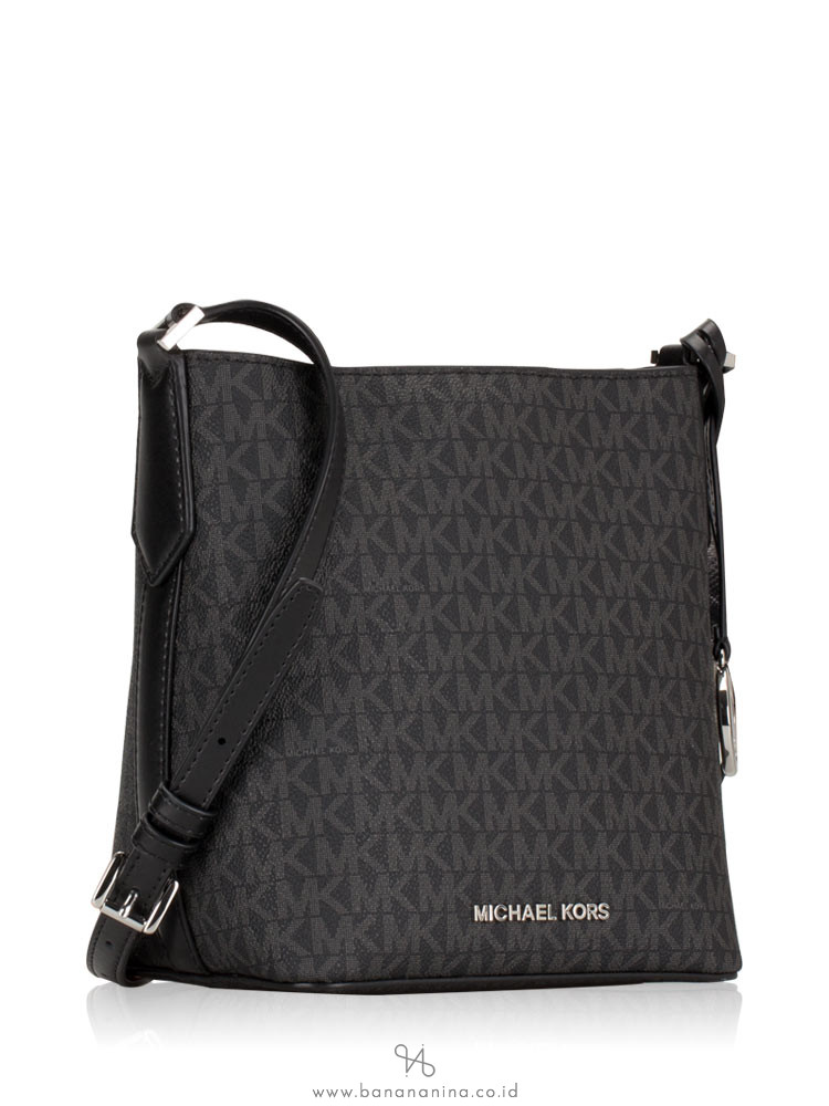 MICHAEL KORS Kimberly Signature Small Bucket Bag Black