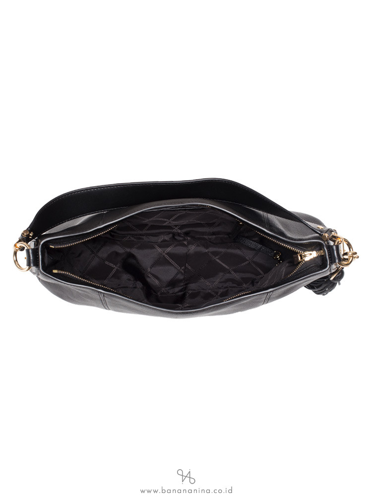 MICHAEL KORS Brooke Large Leather Hobo Black