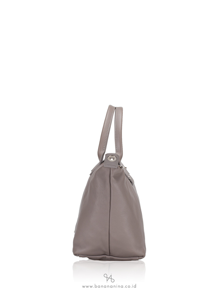 LONGCHAMP Le Pliage Cuir Small SH Pebble