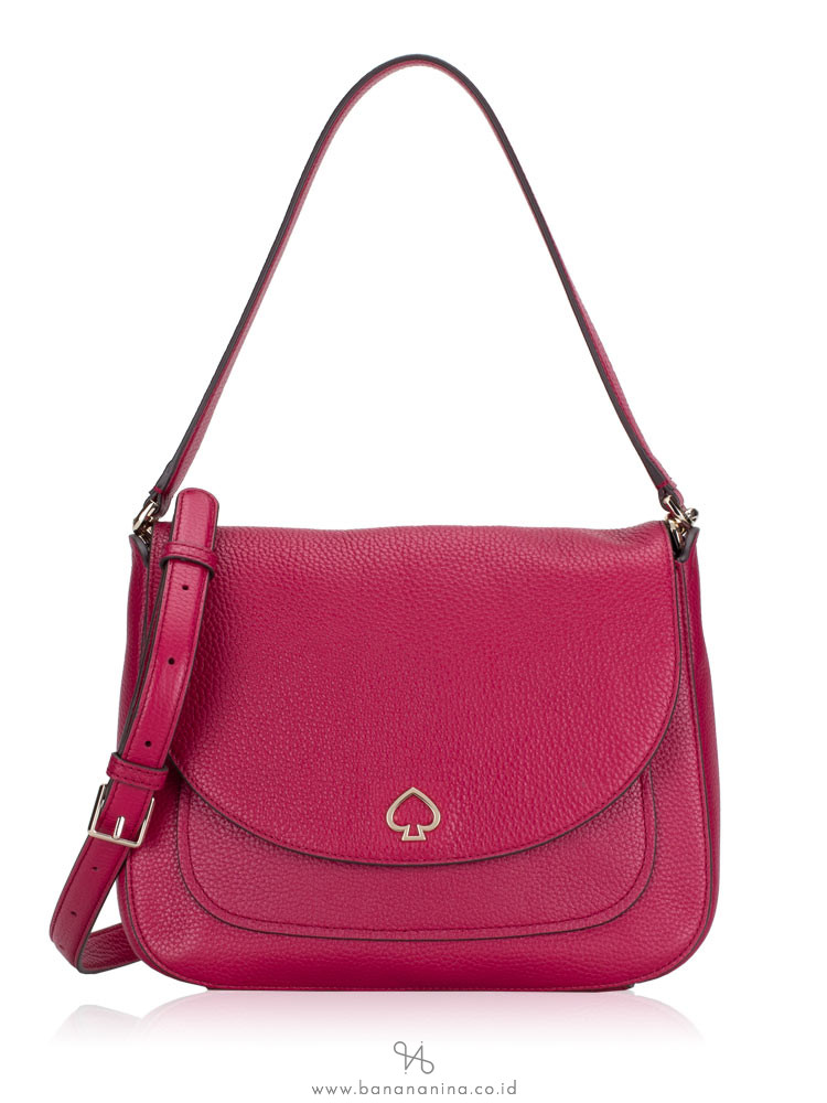 KATE SPADE Kailee Medium Flap Shoulder Bag Cranberry Cocktail