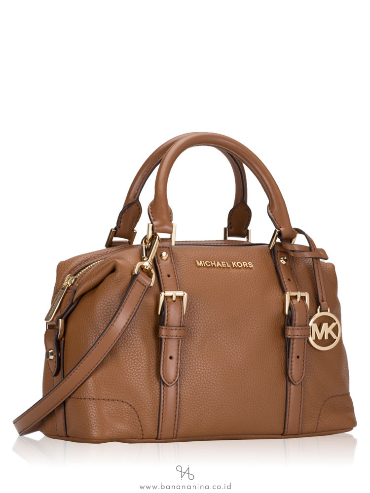 MICHAEL KORS Ginger Leather Small Duffle Satchel Luggage