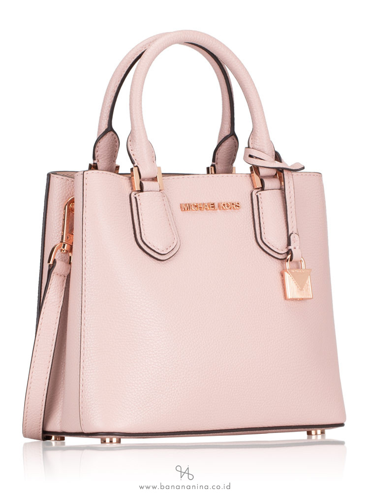 MICHAEL KORS Adele Leather Medium Messenger Blossom