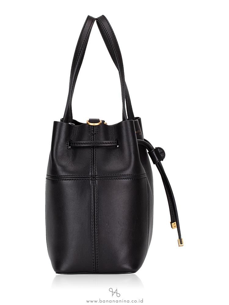 TORY BURCH Block T Small Bucket Bag Black