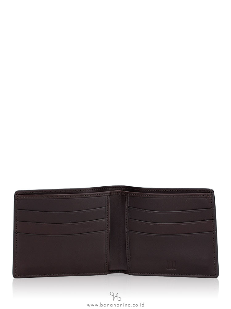 DUNHILL Men Chassis Leather Billfold Wallet Black