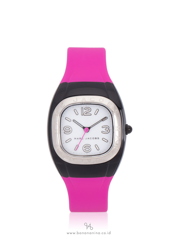 MARC JACOBS MJ1648 Unibody Silicon Strap Watch Pink