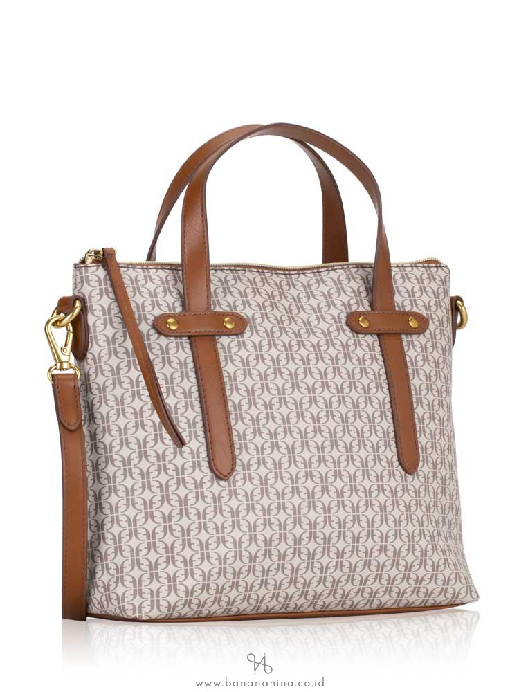 FOSSIL SHB2312939 Felicity Satchel Taupe Tan