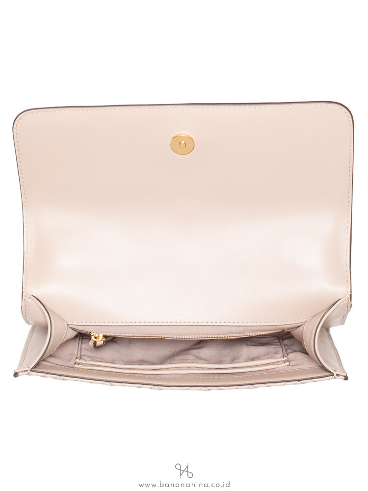 TORY BURCH Fleming Convertible Shoulder Bag Light Taupe