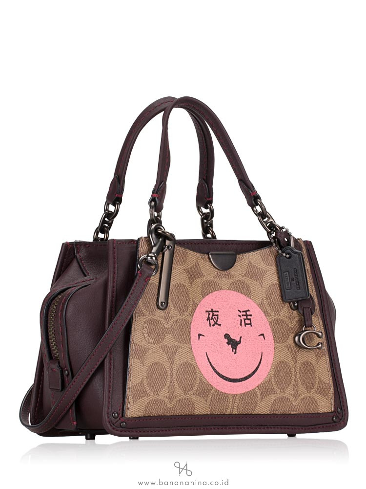 COACH 73946 Signature Rexy Dreamer 21 Tan Oxblood