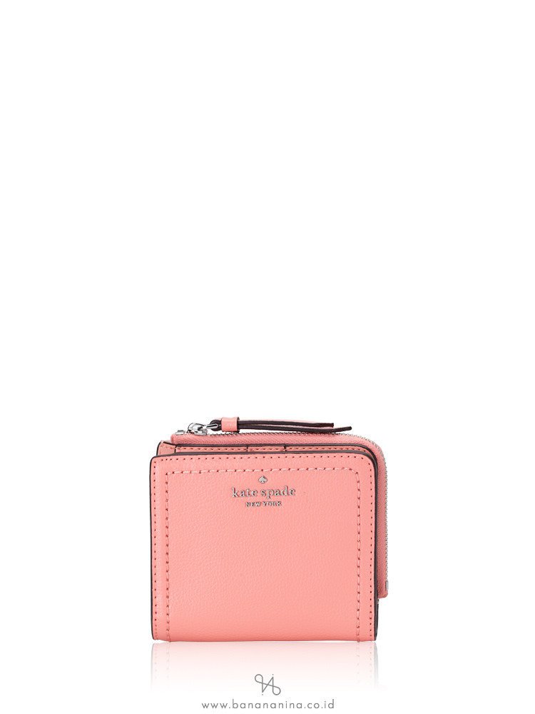 KATE SPADE Patterson Drive Small L-Zip Bifold Wallet Sunset Daze