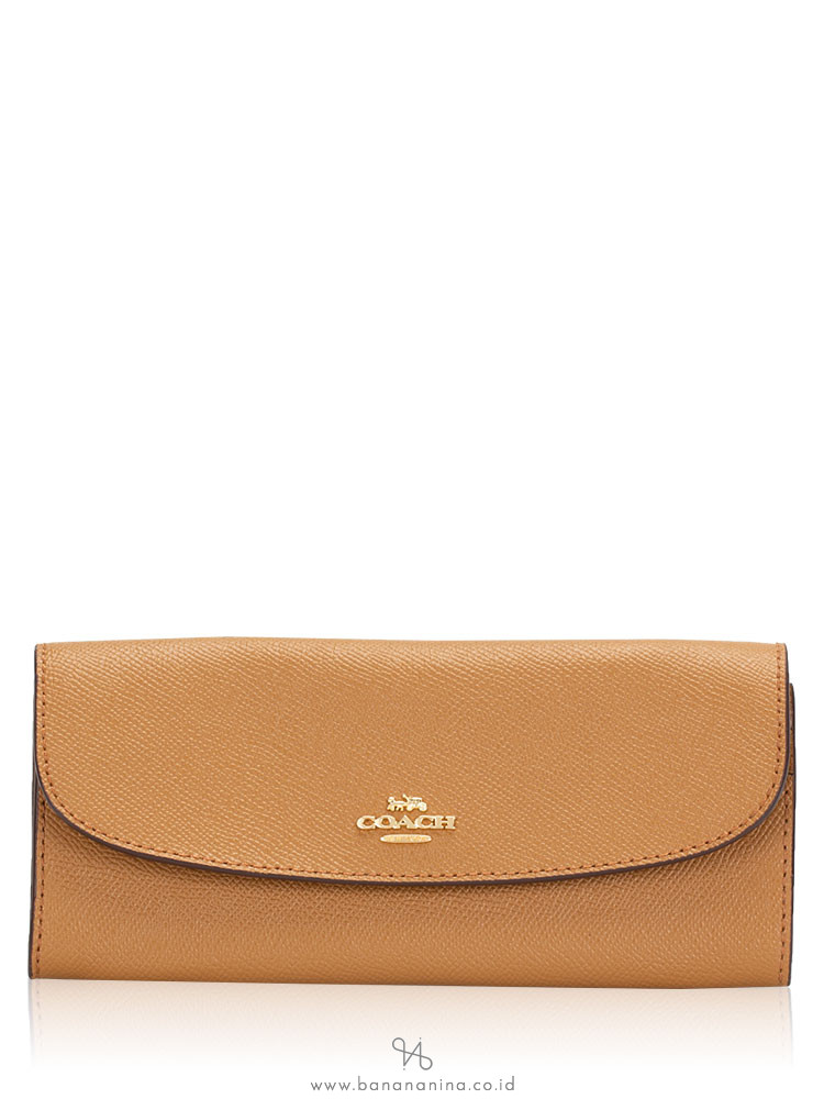 COACH 59949 Crossgrain Leather Soft Wallet Light Saddle