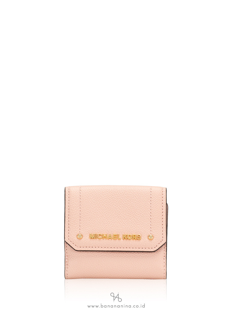 MICHAEL KORS Hayes Leather Medium Trifold Coin Purse Pastel Pink