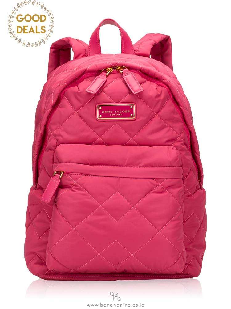 MARC JACOBS Quilted Nylon Backpack Begonia
