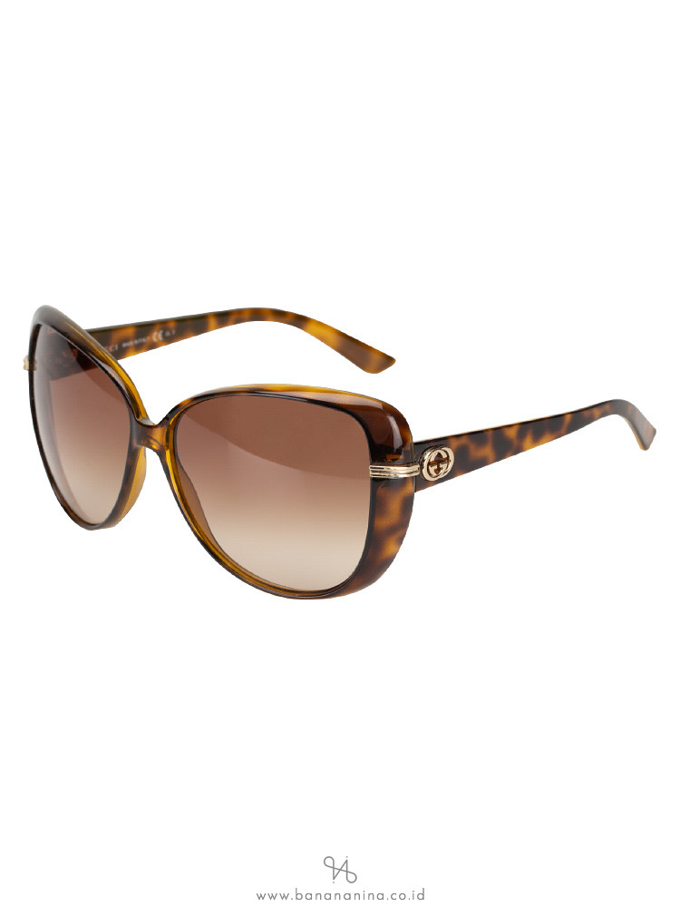 GUCCI GG3156/S Oversized Sunglasses Tortoise Brown
