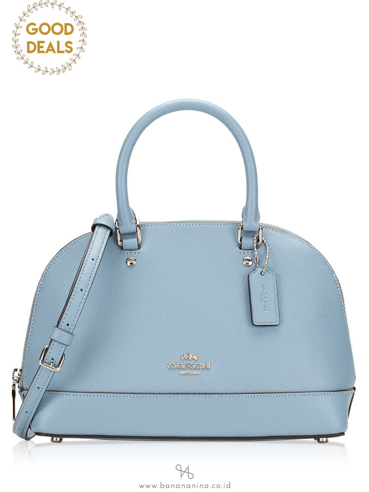 COACH 27591 Crossgrain Mini Sierra Satchel Cornflower