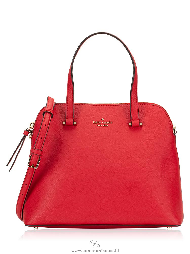 KATE SPADE Maise Medium Dome Satchel Hot Chili