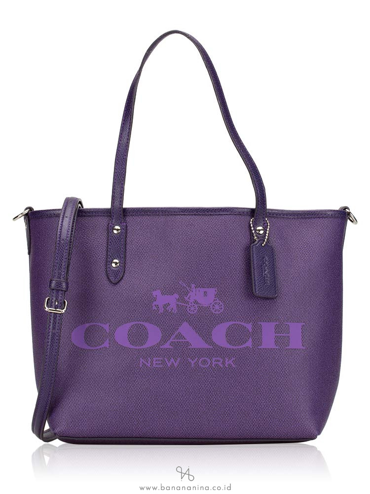 COACH 36588 Small Metro Tote Purple Iris