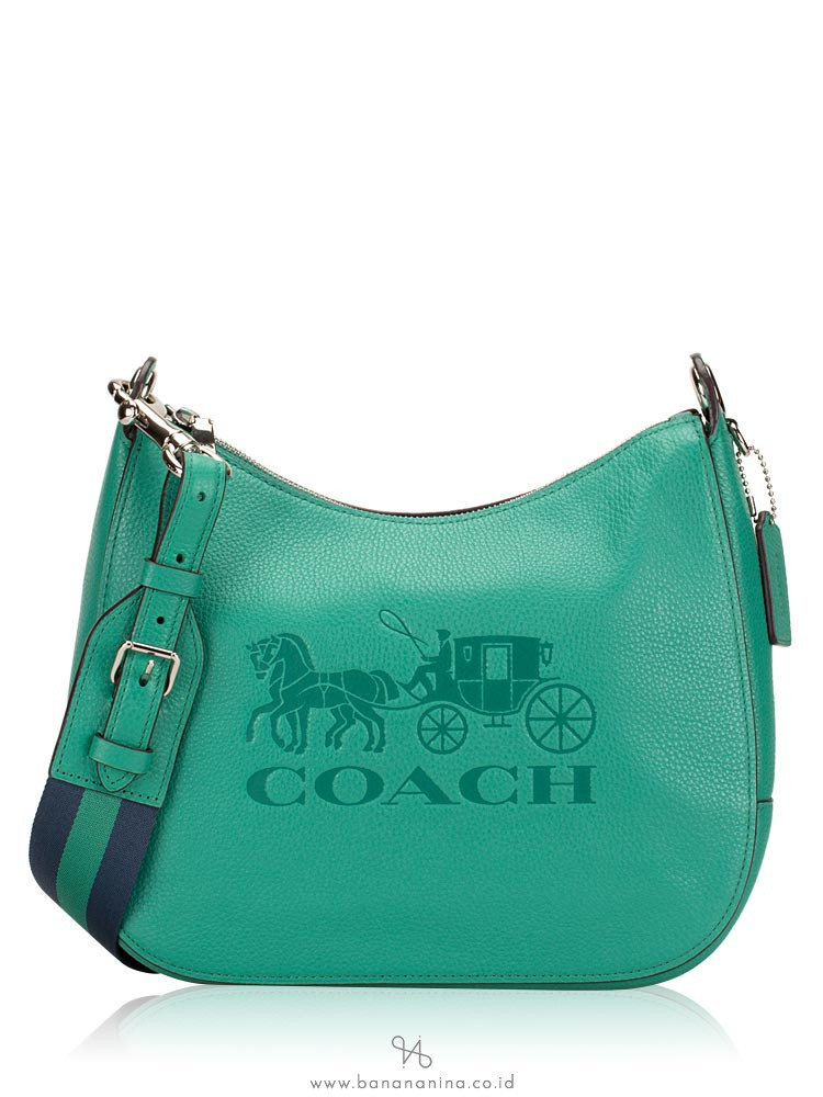 COACH 72702 Jes Leather Hobo Green