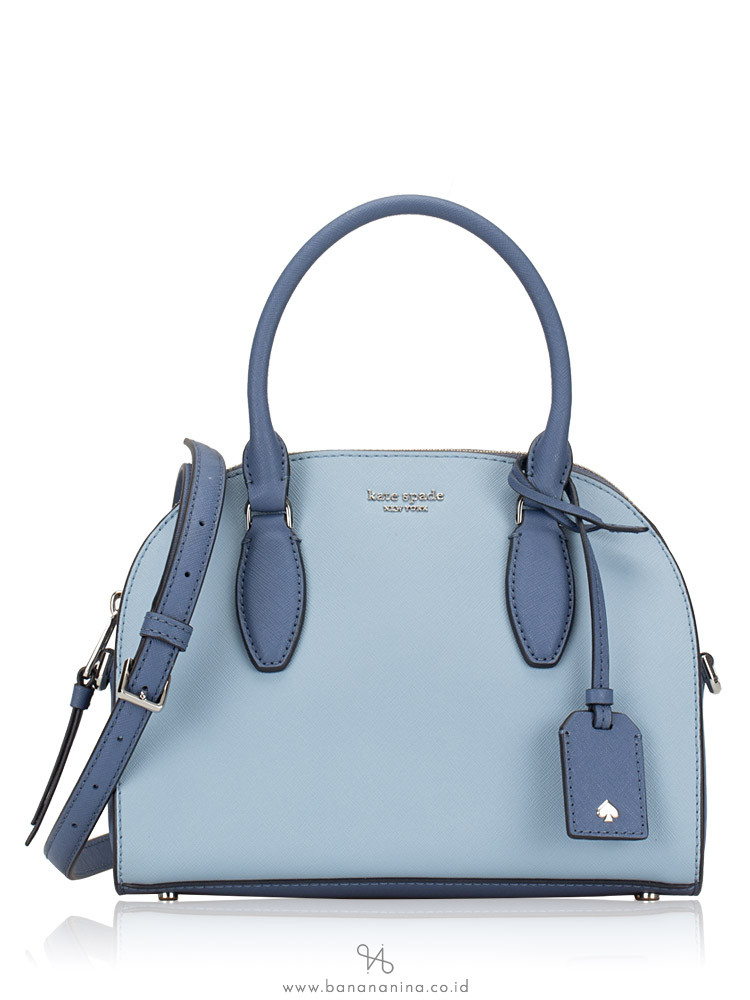 KATE SPADE Reiley Medium Dome Satchel Blue Dawn Cyan blue