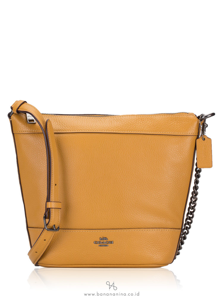 COACH 76668 Paxton Leather Small Duffle Yellow