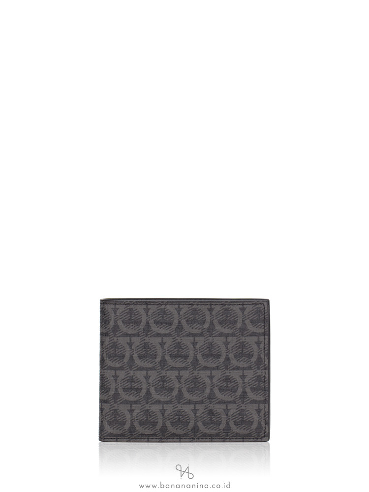 SALVATORE FERRAGAMO Men Gancini Wallet Nero
