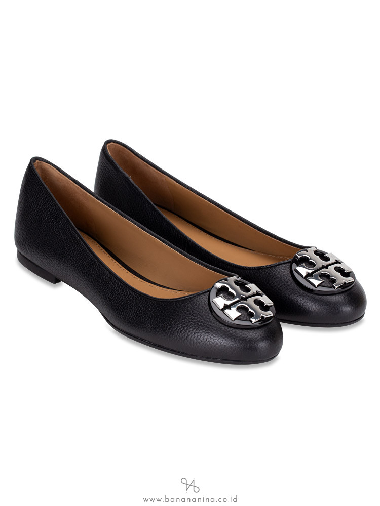Tory Burch Claire Tumbled Leather Flats