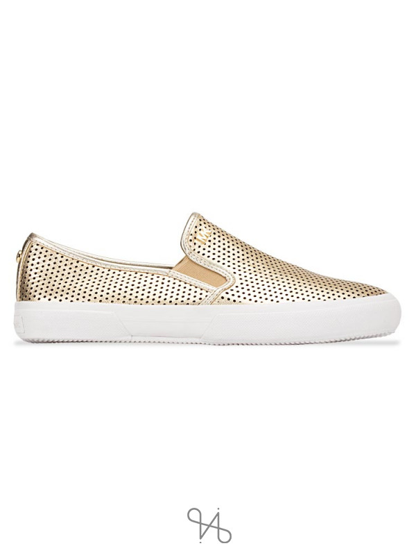 MICHAEL KORS Boerum Double Gore Slip On Pale Gold Sz 7.5
