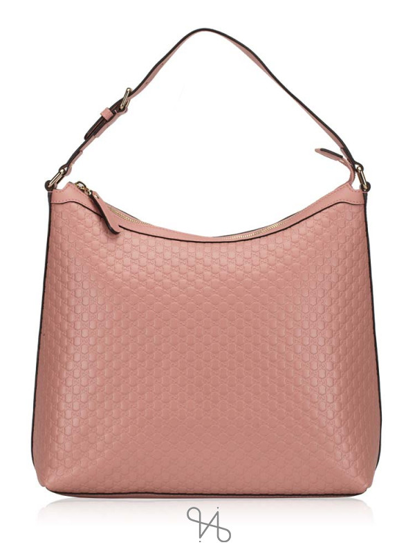 GUCCI Micro Guccissima Leather Hobo Soft Pink