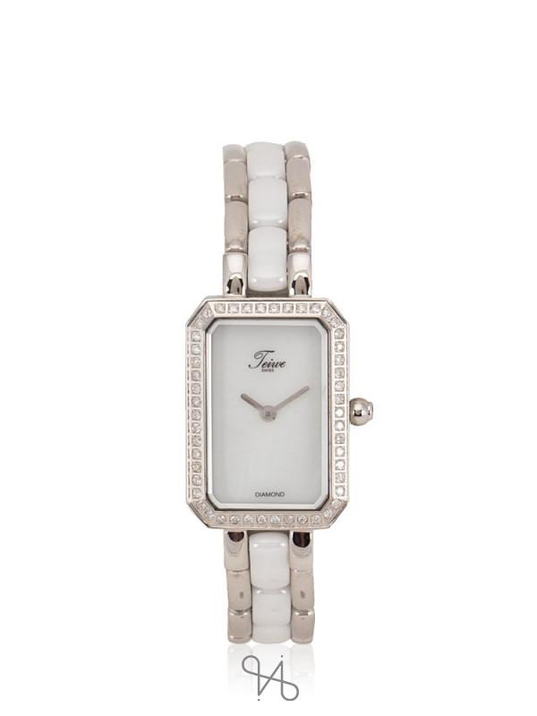 TEIWE TW2972-W Athena Rectangle Stainless White Silver