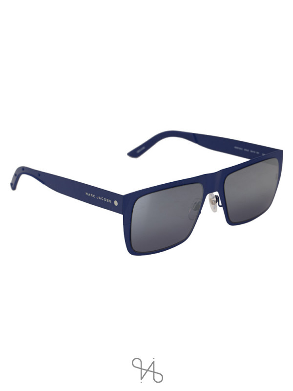 MARC JACOBS 6VXJ3 Rectangular Sunglasses Blue Black