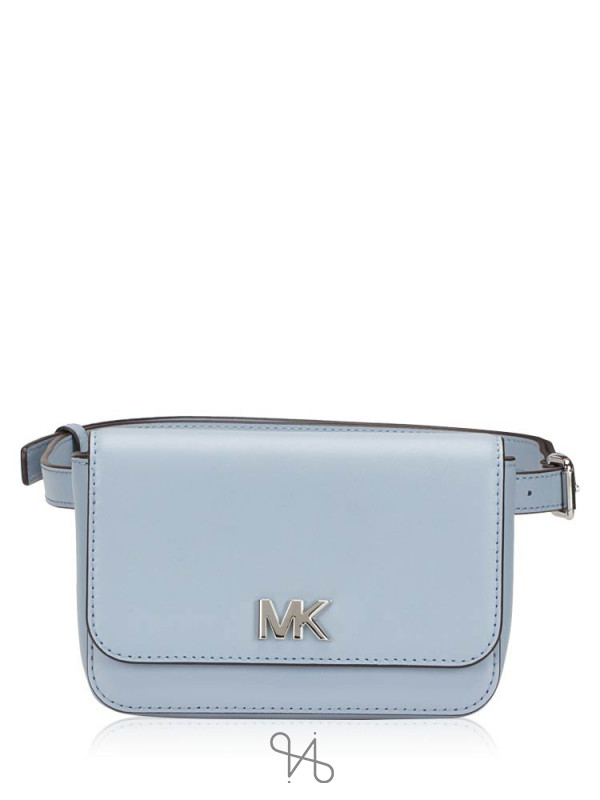 MICHAEL KORS Mott Leather Belt Bag Pale Blue