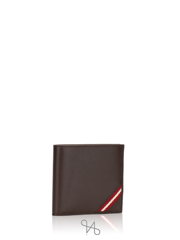 BALLY Men Miollen Leather Wallet Coffee