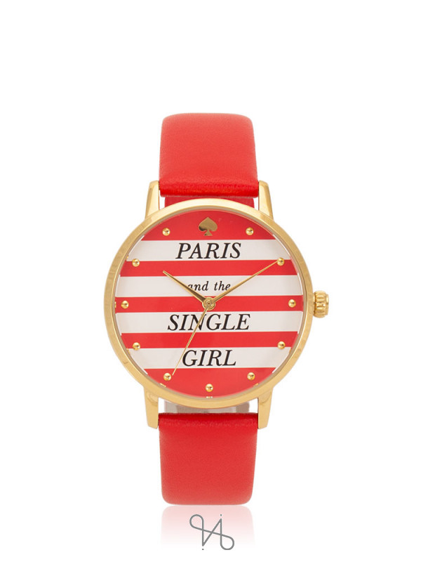 KATE SPADE KSW1365 Metro Paris Leather Strap Red