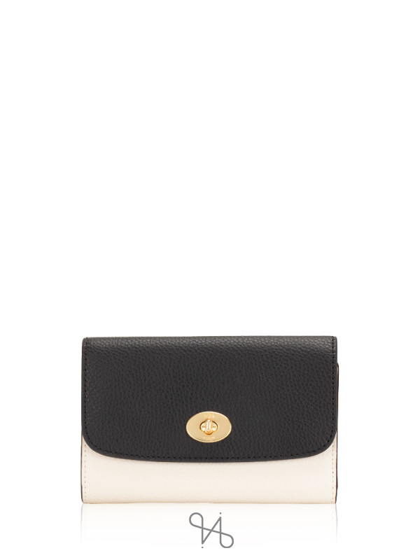 COACH 31650 Colorblock Medium Envelope Wallet Chalk Black Multi