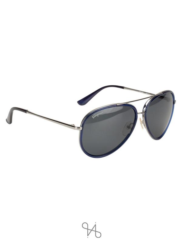 SALVATORE FERRAGAMO SF146S Aviator Sunglasses Blue