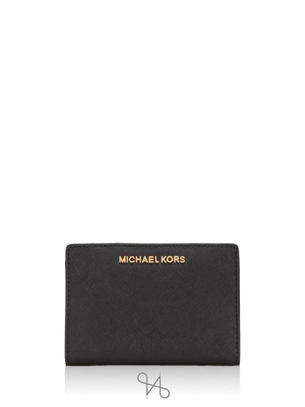 MICHAEL KORS Jet Set Medium Card Case Black