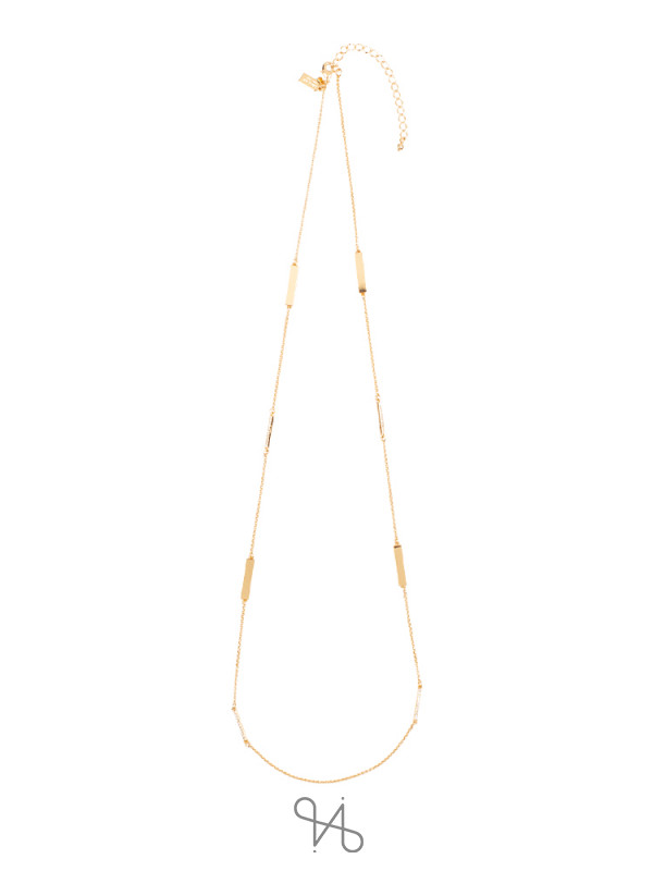KATE SPADE Raising The Bar Necklace Clear Gold
