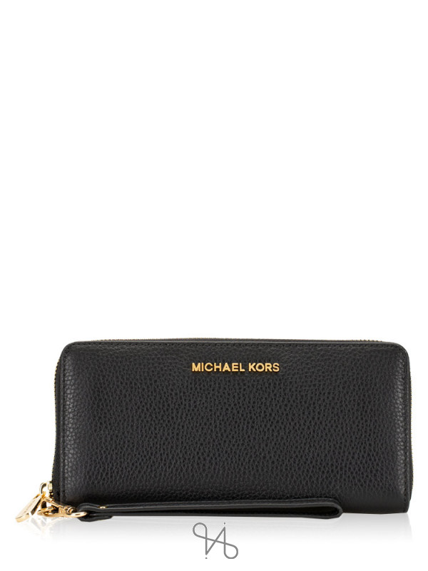 MICHAEL KORS Jet Set Leather Large Continental Wallet Black